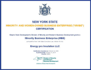 Mbe Certified Sprayfoam Manhattan Brooklyn Contractor